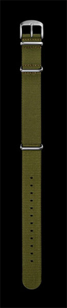 Damasko 20mm Green Nato Strap with Silver  Buckle