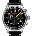 Junkers JU52 Black Chronograph Watch 6180-3