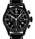 Junkers JU52 Black Chronograph Watch 6182-2