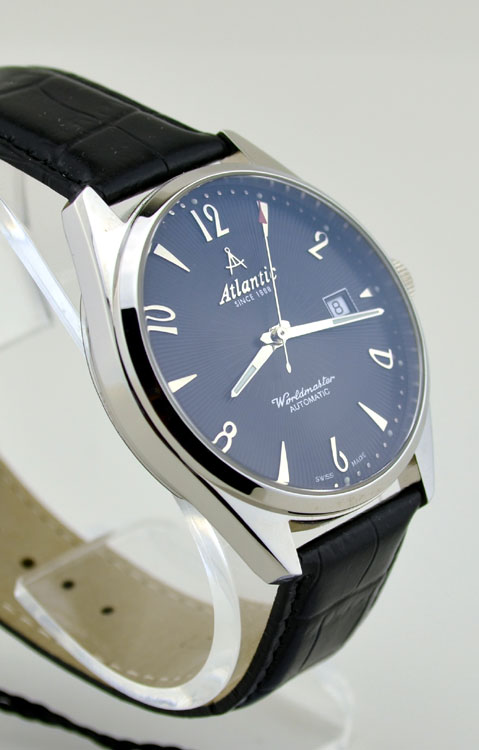 Certified Pre Owned >> Atlantic Worldmaster Art Deco Black Dial Automatic Watch ...