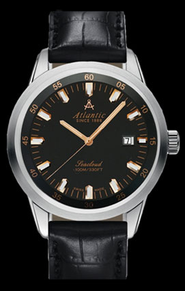 Atlantic Seacloud Dark Gray Dial 100M Automatic Sport Watch