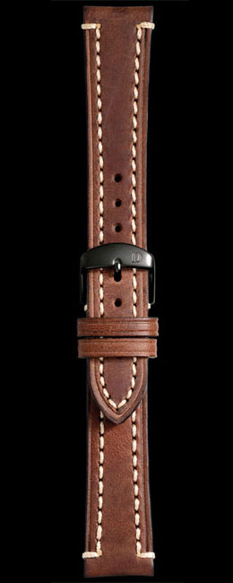 Damasko 20mm Brown Leather Liberty Strap with black buckle