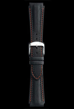 Damasko 20mm Leather Strap with Red Stitch