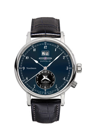 Graf Zeppelin Nordstern Dual Time Watch 7540-3