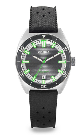 Circula AquaSport Grey/Green Retro Automatic Dive Watch