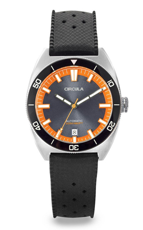 Circula AquaSport Grey/Orange Retro Automatic Dive Watch