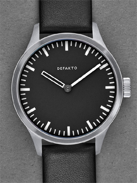 Defakto Akkord Black Dial Automatic Watch