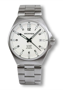 Archimede Outdoor Protect White Dial Automatic Sport Watch UA8239B-A7.1-H