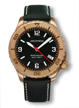 Archimede SportTaucher Bronze Automatic Dive Watch UA8974-TBR-A1.5-BR