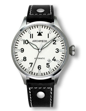 Archimede 42 White Dial Automatic Pilot Watch UA7929-A4.W1