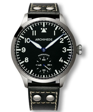 Archimede XLH Large Hand Wound Pilot Watch UA7949-H1.1