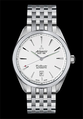 Atlantic Worldmaster Classic 42 White Dial Automatic Dress Watch