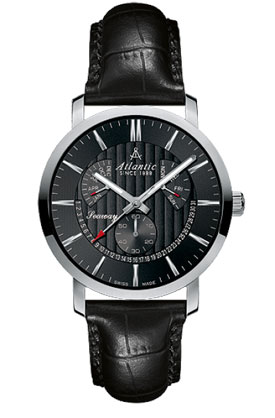 Atlantic Seaway Black Dial Perpetual Date Dress Watch