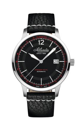 Atlantic Speedway Royal Black Dial Automatic Watch