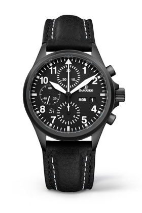 Damasko DC 56 Si Black Automatic Chronograph Watch