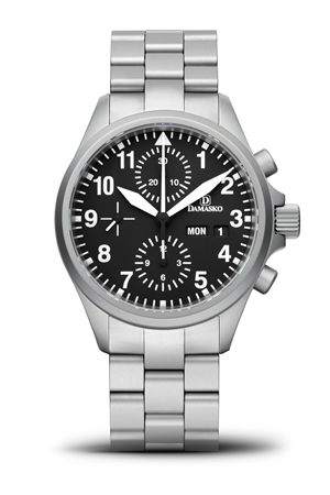 Damasko DC56 Automatic Chronograph Watch with Ice Hardened Bracelet