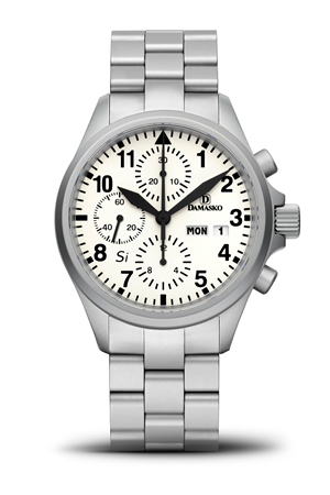 Damasko DC 57 Si Automatic Chronograph Watch with Ice Hardened Bracelet