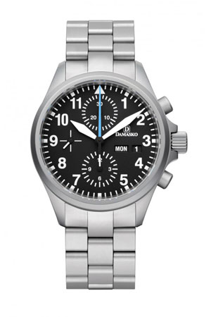 Damasko DC58 Automatic Chronograph Watch with Ice Hardened Bracelet