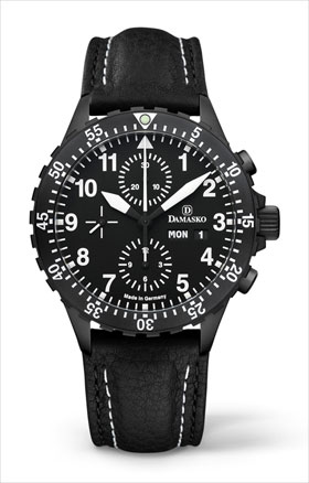 Damasko DC66 Black Automatic Chronograph Watch