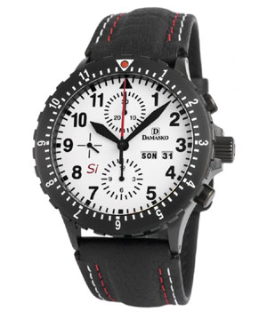 Damasko DC67Si Black Automatic Chronograph Watch