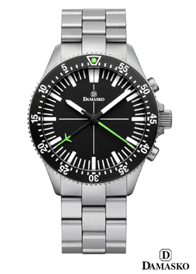 Damasko DC80 Green Automatic Chronograph Watch with Ice Hardened Bracelet