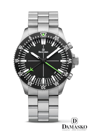 Damasko DC82 Green Automatic Chronograph Watch with Bracelet