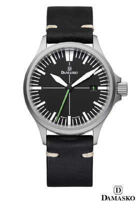 Damasko DS30 Submarine Steel Automatic Watch with Green Hand