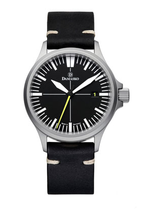 Damasko DS30 Submarine Steel Automatic Watch with Yellow Hand