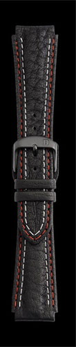 Damasko 20MM Strap with red and white stitch and black pin buckle
