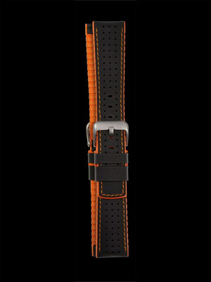 Damasko Robby Orange 22mm Rubber Leather Strap
