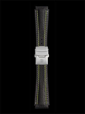 Damasko 20MM Strap with Green stitch and deployment buckle