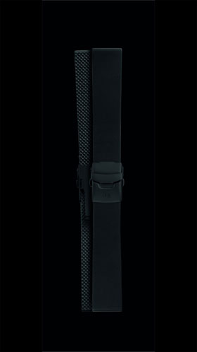 Damasko 22mm Sport Rubber Strap with Black Deployment Buckle