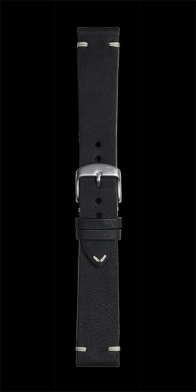 Damasko 20mm Leather Strap Vintage Black