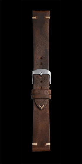 Damasko 22mm Leather Strap Vintage Mocha
