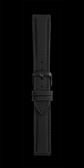Damasko 20mm Rubber Strap with Black Pin Buckle