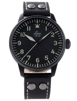 Laco Altenburg Black Case Automatic Pilot Watch