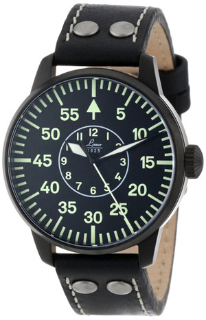 Laco Bielefeld Black Case Automatic Pilot Watch