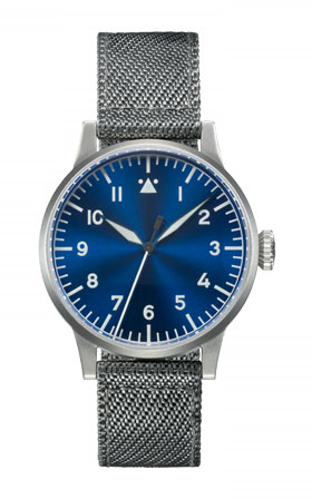 Laco Original MEMMINGEN Blue Dial Hand Wound Pilot Watch 862083
