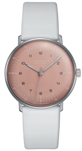 Junghans Max Bill Light Rose Dial Hand Winding Watch 027/3601.00