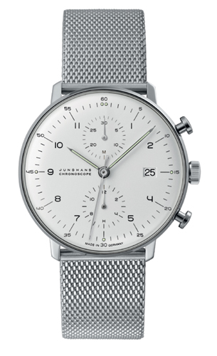 Junghans Max Bill Silver Dial Chronoscope Watch 027/4003.44