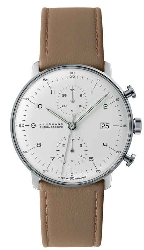 Junghans Max Bill Silver Dial Chronoscope Watch 027/4502.00