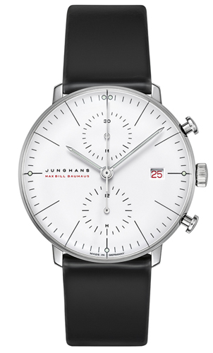 Junghans Max Bill Chronoscope 100 Jahre Bauhaus Chronograph Watch Limited Edition 027/9900.02