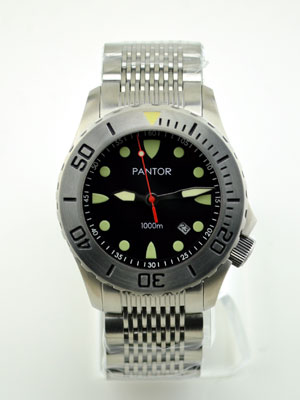 Pantor Seahorse Steel Bezel Automatic Dive Watch #3