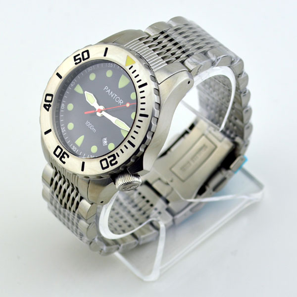 Pantor Seahorse Steel Bezel Automatic Dive Watch #4