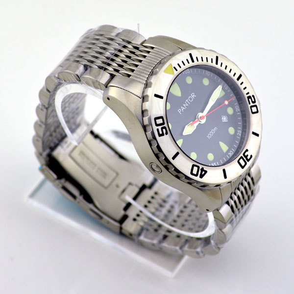 Pantor Seahorse Steel Bezel Automatic Dive Watch #5