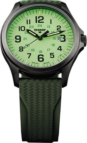 Traser P67 Officer Pro GunMetal Lime Watch