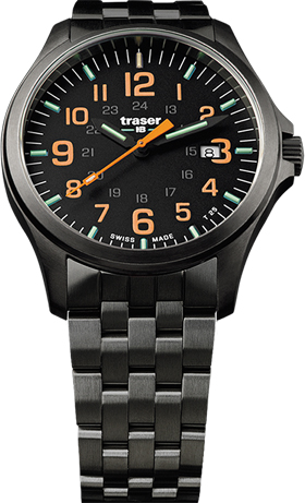 Traser P67 Officer Pro Gun Metal Orange Watch