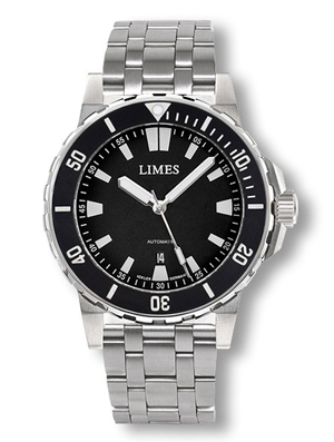 Limes Endurance II  Black Dial Automatic Dive Watch