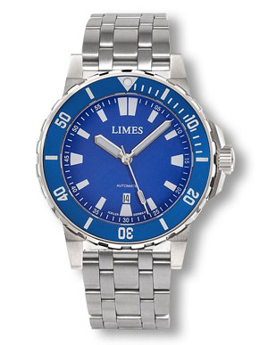 Limes Endurance II Blue Dial Automatic Dive Watch