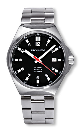 Archimede Outdoor 39 Black Dial Automatic Watch UA8239B-A2.1-HR